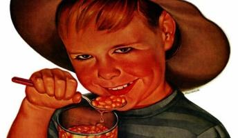 【画像】不気味な表情の子どもが描かれた1950年頃の広告がヤバイ