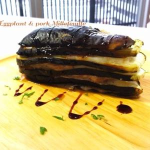 肉の脂を余すことなく!茄子と豚バラ肉の重ね焼き