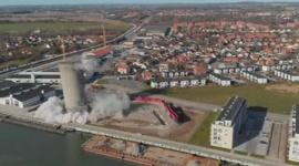 【動画】巨大サイロの爆破解体、真逆に倒壊して大失敗…デンマーク