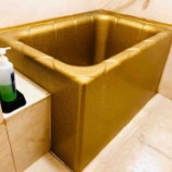 『スケベ椅子みたいな色の浴槽のある部屋に泊まった俺は一気にステージが上がった気がしたわ! #ネトウヨ安寧』の画像