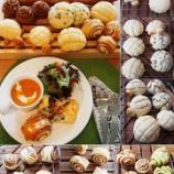 『中級 シナモンロール、メロンパン 天然酵母 エピ、ハーブチーズ』の画像