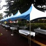 『戸田市植木市・花フェスタ 会場設営が始まっています』の画像