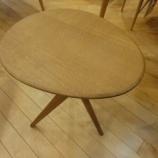 『【2012年9月2日まで飛騨の家具 先行予約会】日進木工のgeppoシリーズのサイドテーブル・NFT-795』の画像