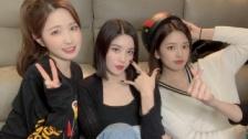 IZ*ONEウンビ&ユジンがVLIVE配信(途中から仁美&咲良&奈子&ミンジュも登場) 200913