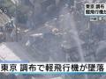 【閲覧注意】調布の飛行機事故ニュース映像に焼死体がバッチリ映り込む放送事故・・・・(画像あり)