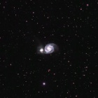『りょうけん座の渦巻き銀河M51』の画像