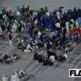 【画像】バッハが喋ってるときの選手団の様子