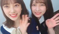 【乃木坂46】堀未央奈にハグする鈴木絢音!