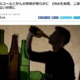 『アルコールのDNA損傷リスク』の画像