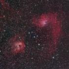 『銀河が昇る前に!沈みゆく勾玉星雲&髑髏星雲コラボ』の画像