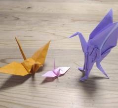 ツル星人の折り紙
