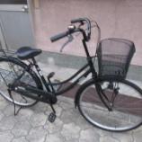 『リサイクル自転車 26インチ軽快車 ブラック』の画像