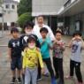 5月8日の天真会館空手 京都市伏見区 久我の杜道場 野外稽古 5月最後の稽古。
