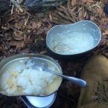『飯盒でご飯を炊く方法』の画像