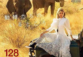 【モデル】ローラ「ゾウを救おう!」「私たちはみんな家族です」象牙反対をアピール