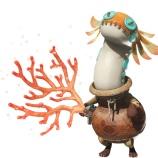 『【MHWアイスボーン】オトモ武具コンテスト最優秀賞は「EXユラユラネコα」ユラユラクイーンの被り物?ユラユラフェイクとお揃いで歩こう』の画像