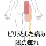 『脚の痺れを伴い、楽な姿勢が見当たらない腰痛』の画像