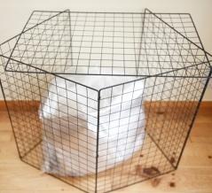 【ダイソー】ゴミをカラスから守る。「カラスよけネット」を手作り!