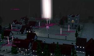 ダンバートンの上空を飛行…町並みがきれい