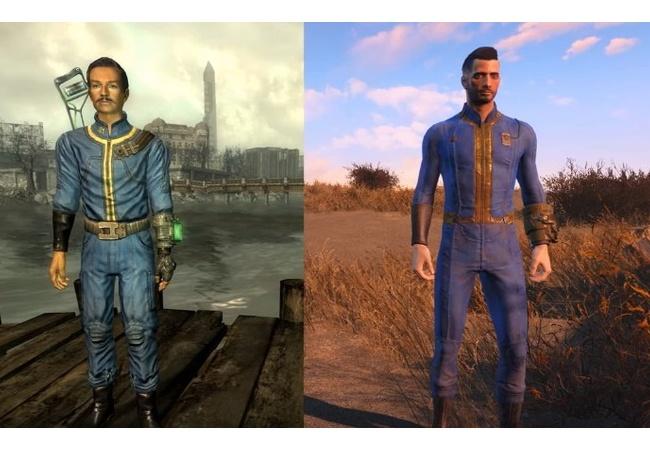 『フォールアウト4とフォールアウト3』の比較(敵、武器、人物等)