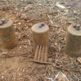 『2013.08.12 不発弾、地雷の回収と愛媛銀行様、国際ソロプチミスト今治様から、頂いた鉛筆などの寄贈』の画像