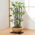 幹に天然の竹を使用した、本物そっくりの黒竹のフェイ…
