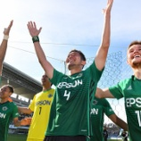 『松本山雅 ホーム7戦負けなし!! DF飯田真輝 渾身のヘッドで1-0 タフな試合を勝ち取る』の画像