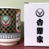『吉野家オリジナル湯呑をゲット!【株主優待・クーポン】』の画像