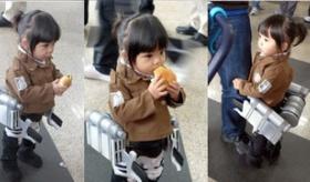 【コスプレ】 ぐぅ! ちびっ子による 進撃の巨人のコスプレが 可愛すぎる!!!  海外の反応