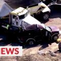 25人乗りSUVがトラックと衝突し13人死亡 カリフォルニア