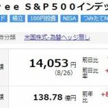 『【朗報】iFree S&P500インデックスが半年ぶりに14000円台を回復!』の画像