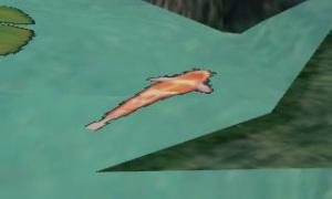 生命の滝の鯉(?)が平面的すぎて紙工作