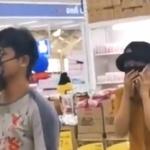 【動画】タイ、マスクしないとスーパーに入店できない、そこで、男は靴をマスクに…!