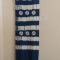 手織り藍染め(絞り染め)タペストリー