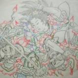 『弘前ねぷた絵279 南蛮王孟獲妻 祝融夫人と王平、魏延、馬岱2』の画像