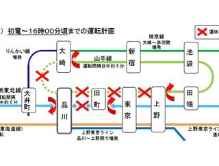 【JR東日本】品川駅線路切換工事に伴い山手線・京浜東北線の列車運休を発表(2019.11.16)