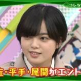 『平手友梨奈のてちスマイル!! まさかの「豪速球」対決!【欅って、書けない?】』の画像