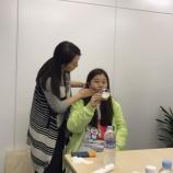 『健康美応援表情筋トレーニング中国の方に伝授』の画像