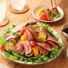 「赤身ステーキと焼き野菜のごちそうサラダ」 簡単!焼き肉のたれドレッシング