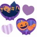 ハロウィンイラストフリー素材 おはかとかぼちゃ