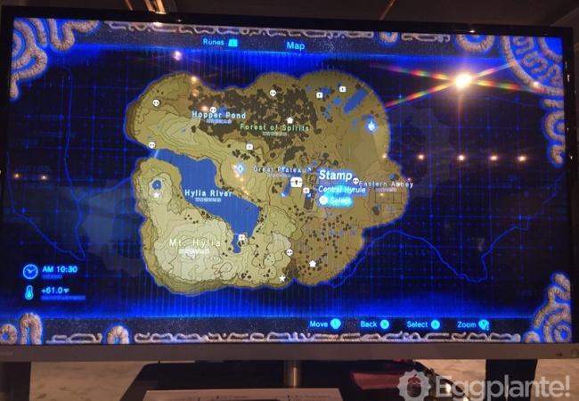 【ゼルダの伝説 ブレスオブザワイルド】全体マップが広すぎる