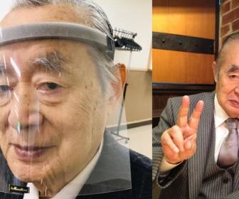 【新型コロナ】ドクター中松氏が開発した「超新型マスク」に注文殺到、生産追いつかず    鼻、口だけでなく目も防御