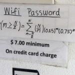 解けたら天才?店の「Wi-Fi パスワード」を入手するための数式が激ムズと頭を抱える人続出(問題あり)