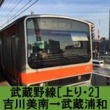 『武蔵野線 車窓[上り・2]吉川美南→武蔵浦和』の画像