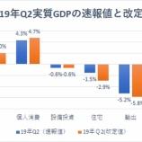 『【米第2四半期GDP】個人消費好調も、設備投資、住宅、輸出が足枷となり下方修正』の画像