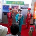 みちのく盛岡の観光展(JR藤沢駅構内(ミスさんさ踊り))