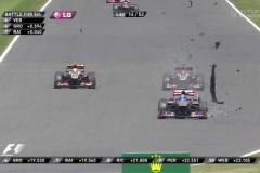 F1イギリスGPがやばすぎる タイヤのバースト多発!ピレリどうすんだよw