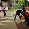 消防団特別点検(操法大会)に向けて訓練を開始
