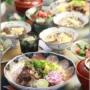 【レシピ】牛肉の甘辛ちらし寿司。と 献立。と 海のひっかき傷