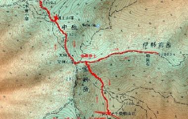 『木曽駒ケ岳(2956m)Sept.25,2019』の画像
